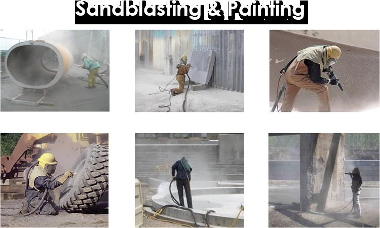 Sandblasting&Painting2