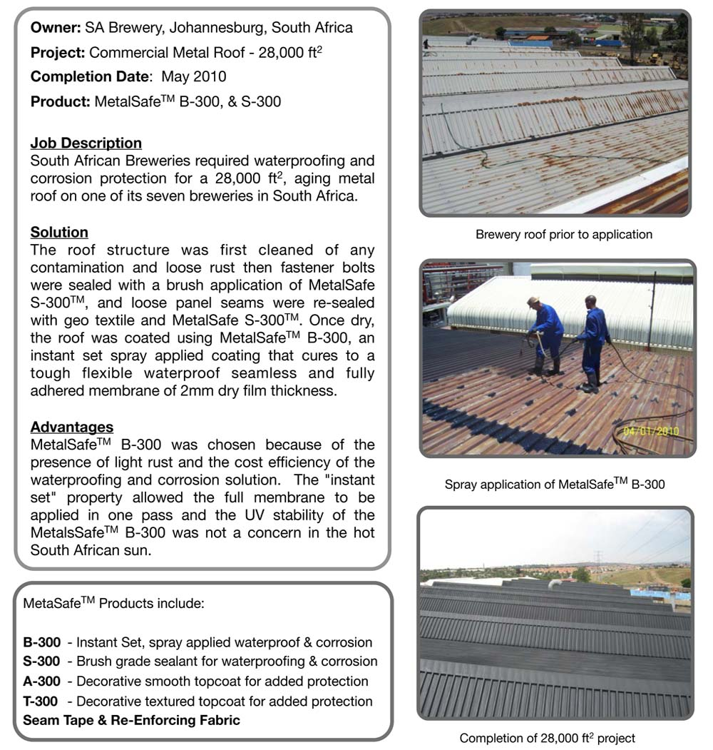 Case Study - South Africa Metal Roof